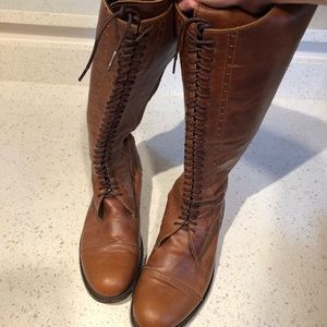Shoes - Artisan made leather knee high boots